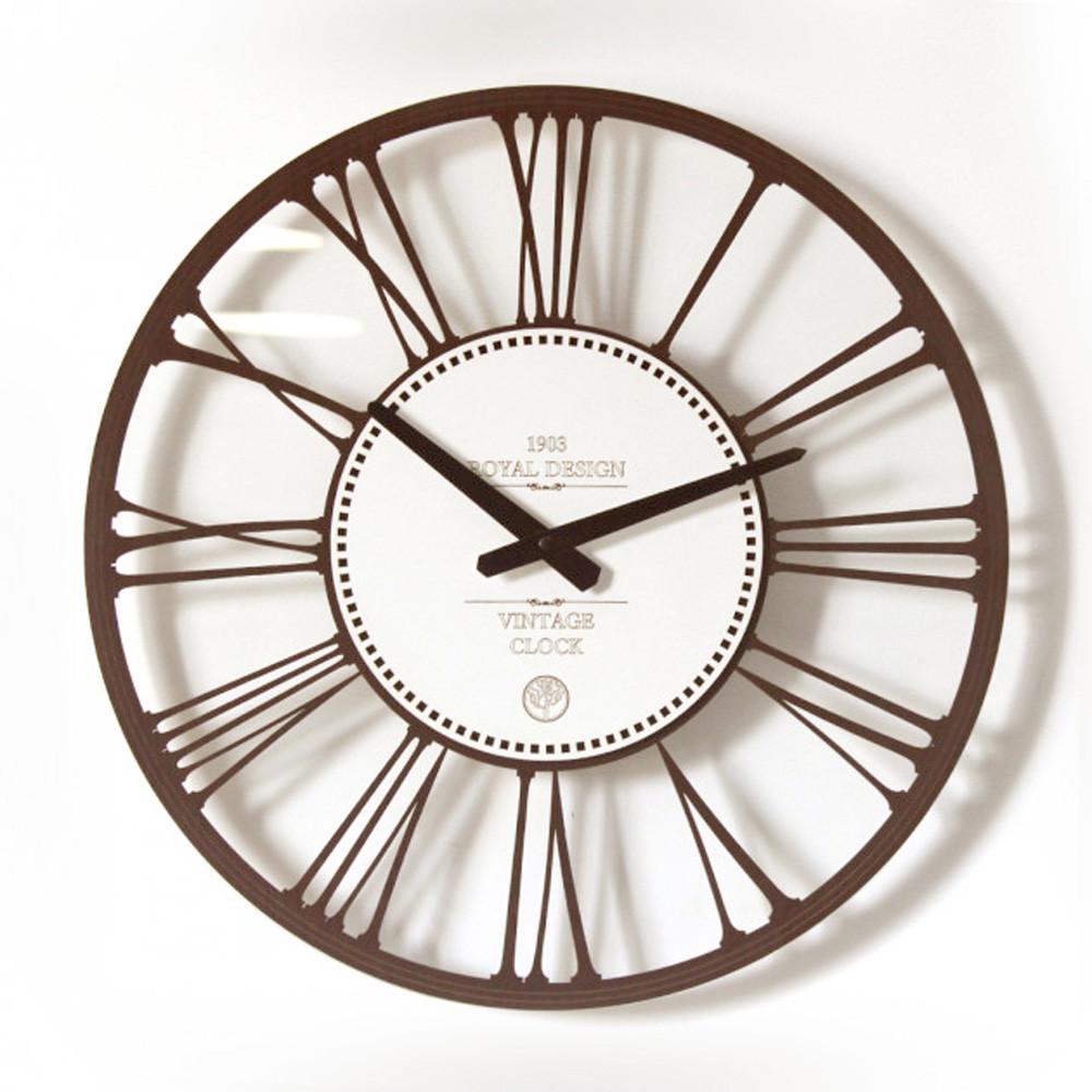 Интерьерные часы настенные круглые Glass классического дизайна 45*45см.