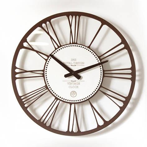 Интерьерные часы настенные круглые Glass классического дизайна 45*45см., фото 2
