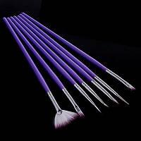 Набор из 7 различных кистей для художественных работ, арт-дизайна Для работ с акрилом, гелем.