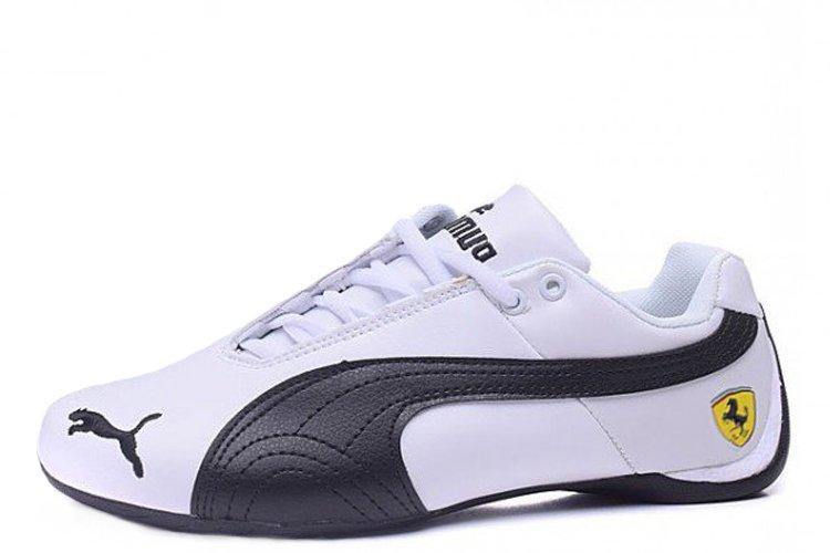 Оригинальные кроссовки мужские баскетбольные Puma Ferrari Low White Black | Пума ферари лоу - белые