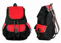 Рюкзак городской черно-красный