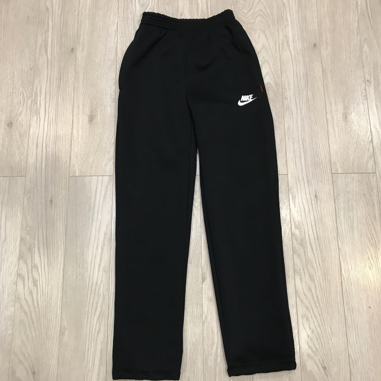 Спортивные штаны Nike теплые / черные / трикотажные, флис