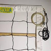Сетка для волейбола «ПРЕМИУМ 12 НОРМА» с тросом черно-белая, фото 1