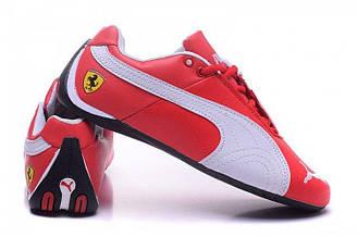 Оригинальные кроссовки мужские баскетбольные Puma Ferrari Low Red White | Пума ферари лоу