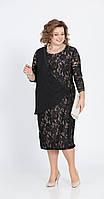 Платье Pretty-803 белорусский трикотаж, черный, 56, фото 1