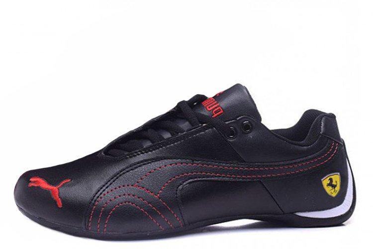 Оригинальные кроссовки мужские баскетбольные Puma Ferrari Low RedBlack| Пума ферари лоу - черные