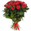 Очаровательный букет из алых роз «История сердца 25 роз»