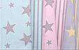Сатин (хлопковая ткань) на розовом фне серая полоска, фото 2