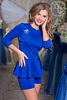 Комплект женский шорты + кофта с баской № 613  Гл