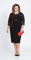 Платье Pretty-815 белорусский трикотаж, черный, 56