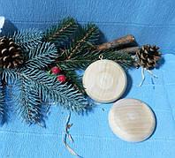 Подвеска Медальон деревянный, 7см