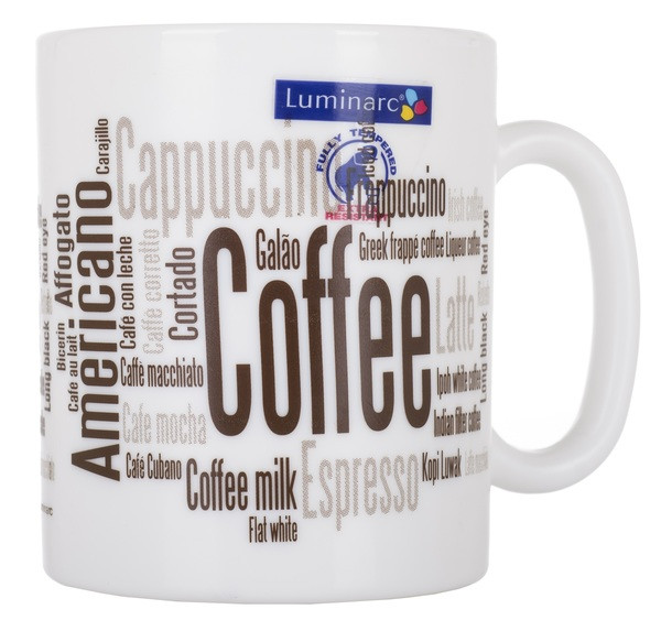 Кружка LUMINARC ESSENCE COFFEEPEDIA 320 мл (N1237)