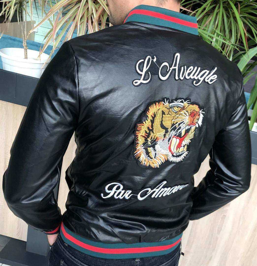 Стильная мужская куртка Armani Тигр Дорогой и приятный материал Размеры 2XL, 3XL