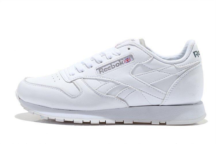 Кроссовки мужские Reebok Classic Leather White |Рибок классик лечер белые оригинал