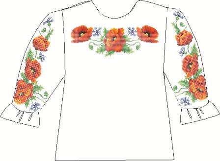 СВДП-3. Заготовка для вишивки бісером Дитяча блузочка домоткана