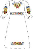 ВПДП-4. Заготовка для вишивки бісером Дитяче плаття домоткане