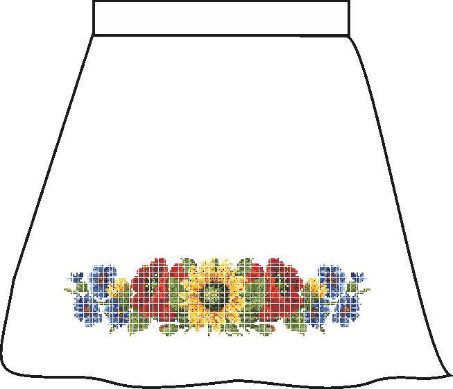 СПДП-4. Заготовка для вишивки бісером Дитяча спідничка домоткана