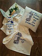 Подушка  именная с вышивкой., фото 1