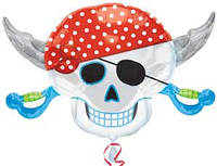 Шар фольгированный Череп пирата