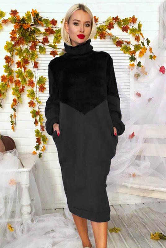 Свободное трикотажное платье Эмбра