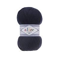 Пряжа Alize Lanagold 800 - 58 темно-синий (Ализе Лана голд 800)