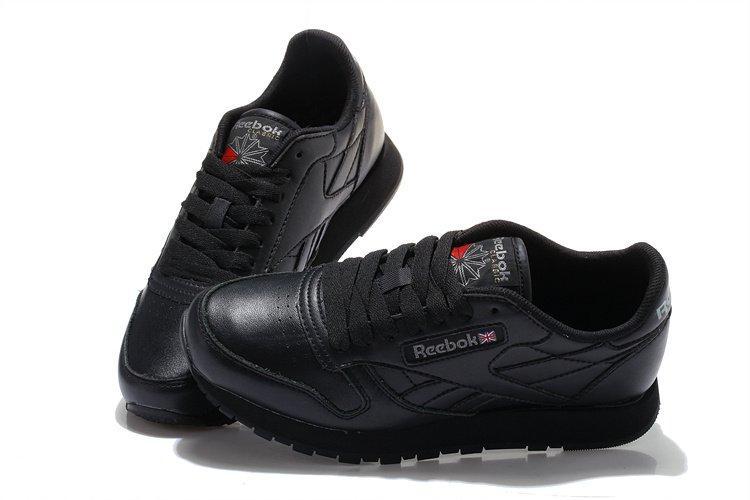 Оригинальные кроссовки мужские Reebok Classic Leather Black | Рибок классик летер черные