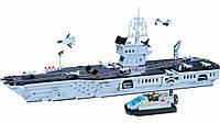 Конструктор Brick 113 Авианосец 990 детали YNA