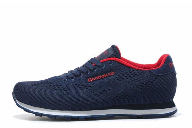 Оригинальные кроссовки мужские Reebok CL Engineered Mesh Navy Red | Рибок синие
