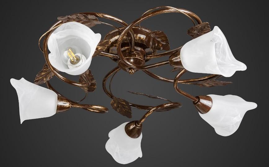 Люстра флористика припотолочная 5 ламп AR-004589
