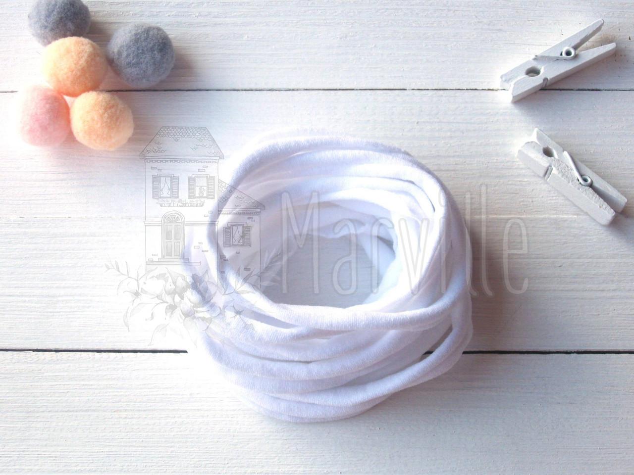 Резинка - повязка нейлоновая (one size) Китай Белый