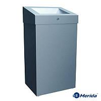Корзина для мусора с отверстием из матовой нержавейки 47л. Merida Stella Maxi, Польша, фото 1