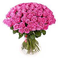 Роскошный букет «101 розовая роза»