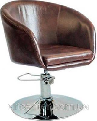 Кресло для мастера, кресло парикмахерское  (МУРАТ Р  коричневый)  на гидравлике