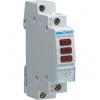 Индикатор тройной LED 230В, красный, 1м Hager SVN127