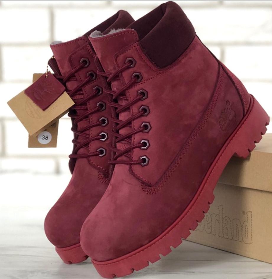 Женские Зимние ботинки Timberland, ботинки тимберленд сиреневые