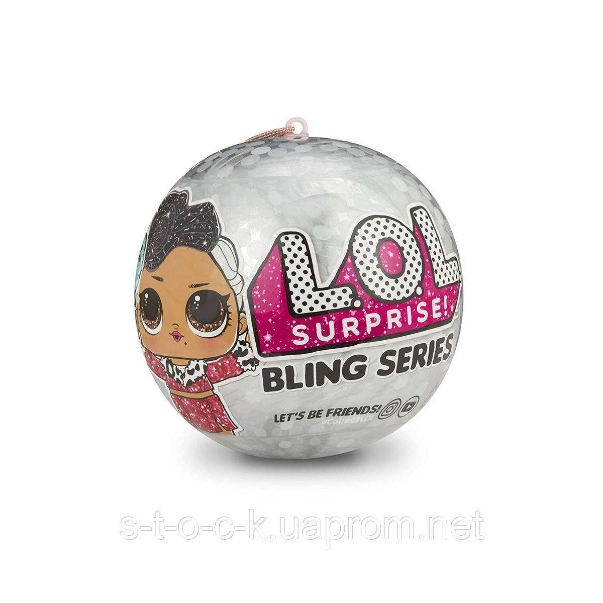 Кукла ЛОЛ Блинг Новогодний шар, LOL Surprise Bling Series