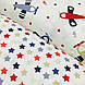 Ткань поплин самолетики голубые, красные и бежевые на белом (ТУРЦИЯ шир. 2,4 м) №33-142, фото 5