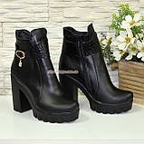 Ботинки женские кожаные тракторной подошве. Демисезон, фото 4