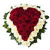 Букет цветов в виде сердца «Сердце»