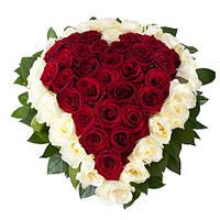 Букет цветов в виде сердца «Сердце», фото 1