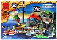 Конструктор Brick 309 Бухта Пиратов 206 деталей YNA