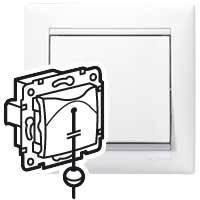 Выключатель без фиксации перекидной - Valena - со шнуром - 10 A - 250 В~ белый