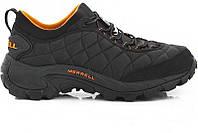 Зимние кроссовки Merrell черные с оранжевым реплика (живые фото)