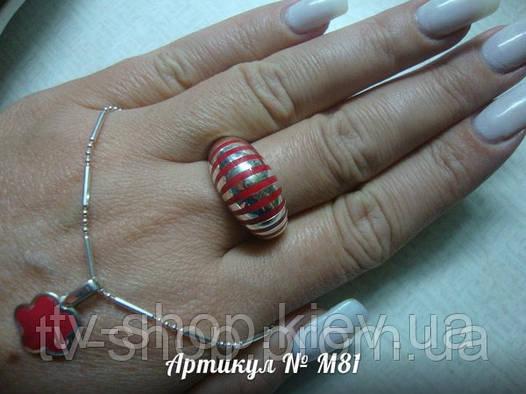 Кольцо и подвеска из серебра с эмалью М81,р.18