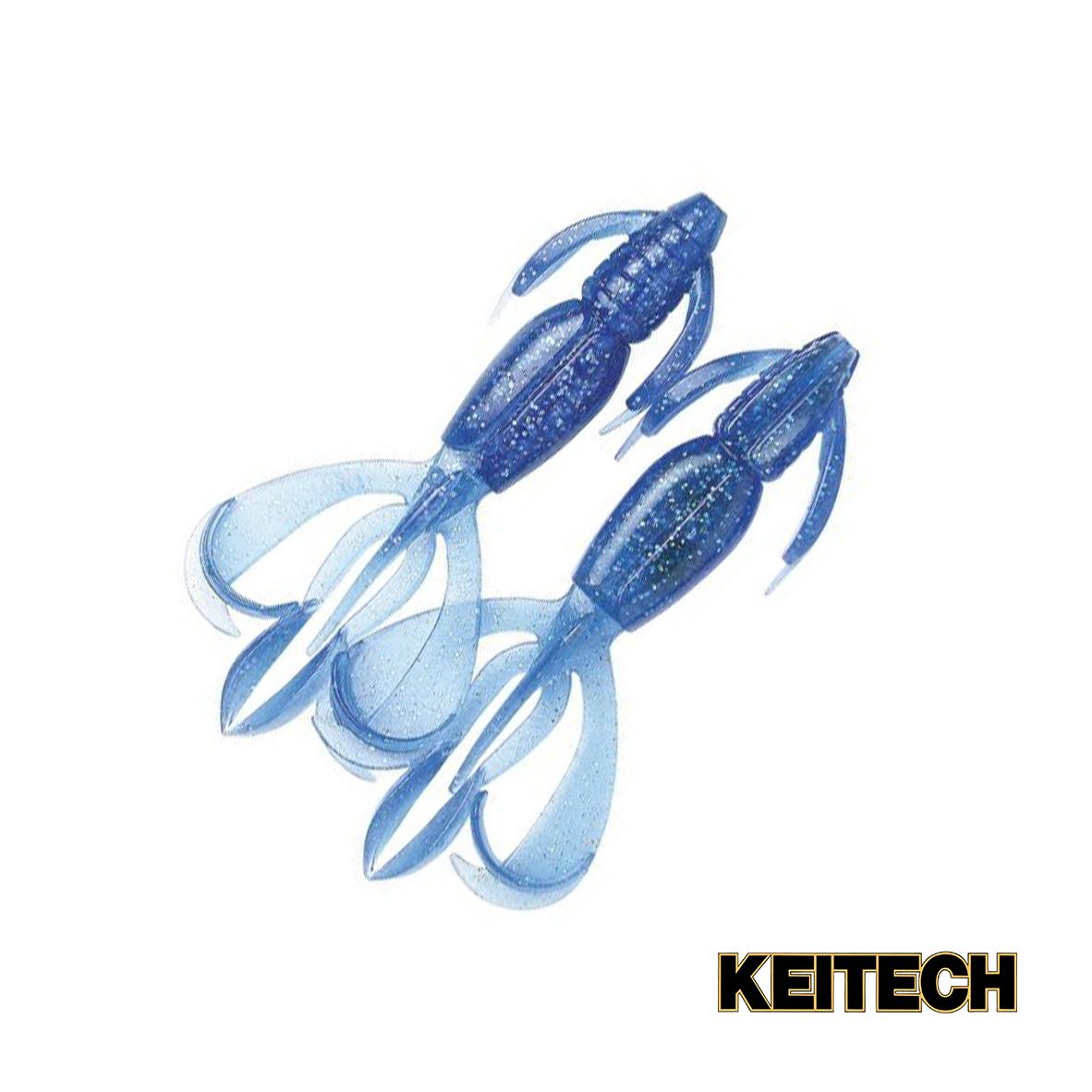 "Силикон Keitech Crazy Flapper 4.4"" (6 шт/упак) ц:301 sapphire blu"