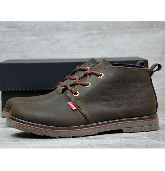 Мужская Зимняя Обувь LEVIS! Теплые зимние ботинки на меху - Интернет-магазин  одежды Fashion 209f615c459