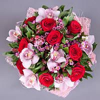 Красочный букет с орхидеями «Магия любви», фото 1
