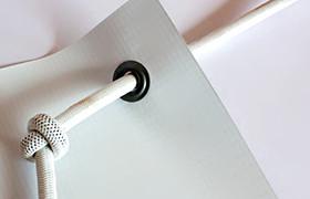 Эластичный шнур(эспандер) для монтажа баннера Ø 6 мм (Польша) -белый