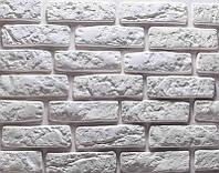 Декоративная гипсовая плитка под кирпич Loft Light (белый)