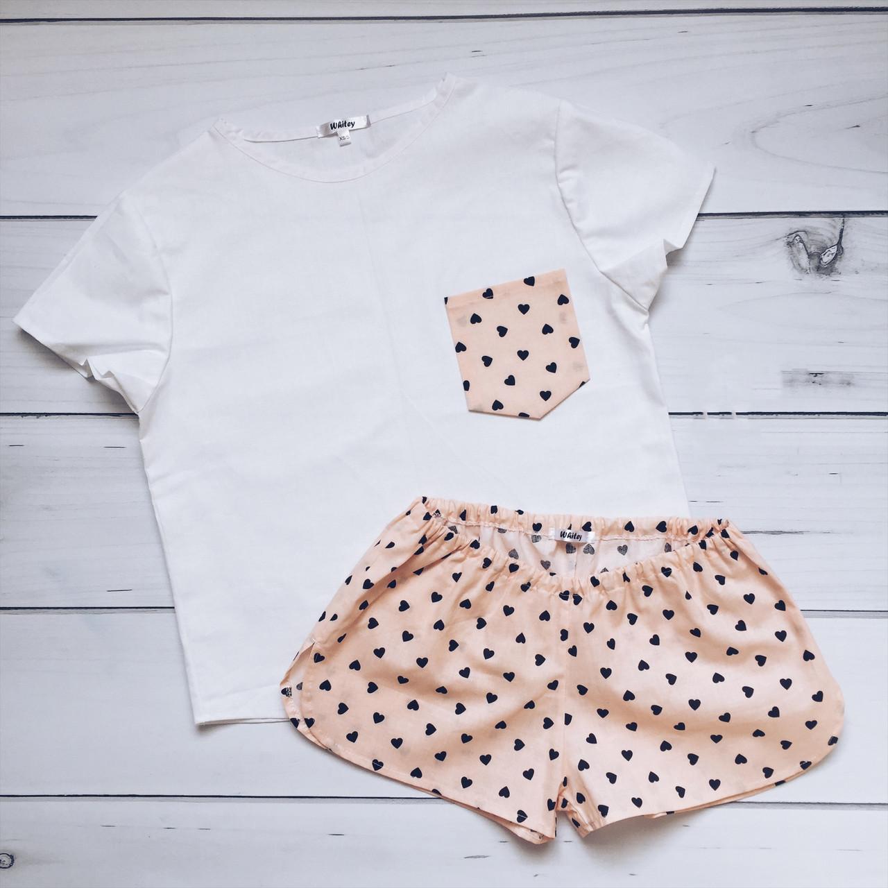Пижама женская (Сердца) 100% хлопок